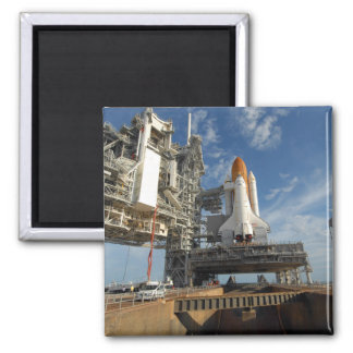 A view Space Shuttle Atlantis on Launch Pad 39A Magnet