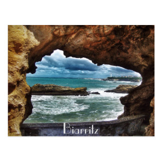 """A view to remember""- Biarritz Postcard"
