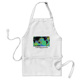 A View Under The Oceans (Geography World Map) Standard Apron