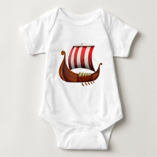 A viking's ship baby bodysuit