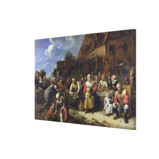 A Village Banquet Stretched Canvas Prints