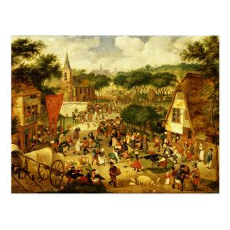 A Village Fair Postcard