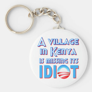 A Village in Kenya is Missing its Idiot Obama Basic Round Button Key Ring