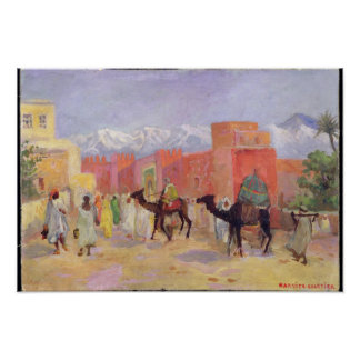 A Village in the Atlas Mountains Poster