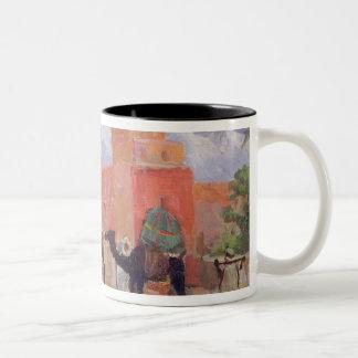 A Village in the Atlas Mountains Two-Tone Coffee Mug