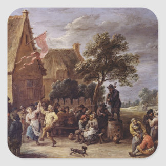 A Village Merrymaking Square Sticker