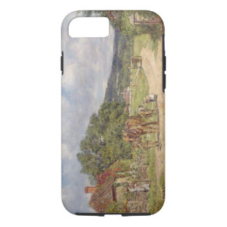 A Village Scene (oil on canvas) iPhone 7 Case