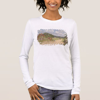 A Village Scene (oil on canvas) Long Sleeve T-Shirt