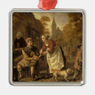 A Village Scene with a Cobbler, c.1650 Christmas Ornament