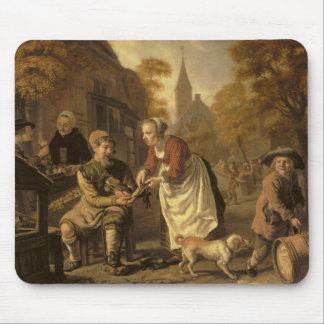 A Village Scene with a Cobbler, c.1650 Mouse Pad
