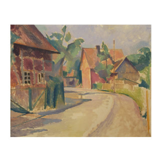 A Village Street Wood Wall Decor