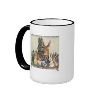 A Vintage Bunny family portrait mug