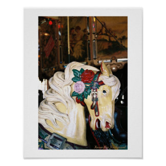 A Vintage Carousel Horse Poster