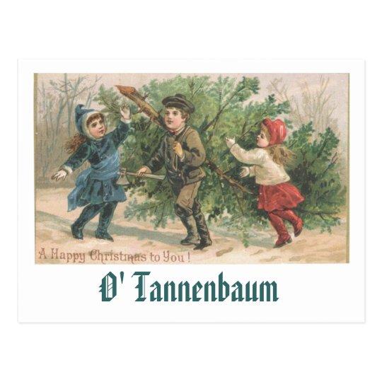 A Vintage Christmas Card - O' Tannenbaum