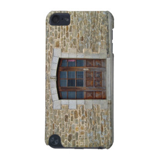 A vintage door and window  in stone wall iPod touch (5th generation) case