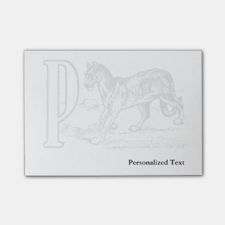 A vintage drawing of the letter P Post-it® Notes