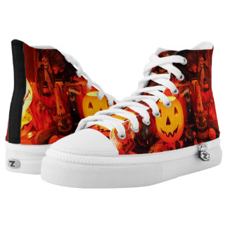 A Vintage Halloween High Top Shoes