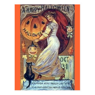 A Vintage Holiday Happy Halloween Postcards