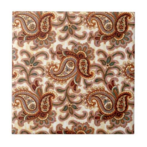 A Vintage Paisley Pattern 2 Ceramic Tiles