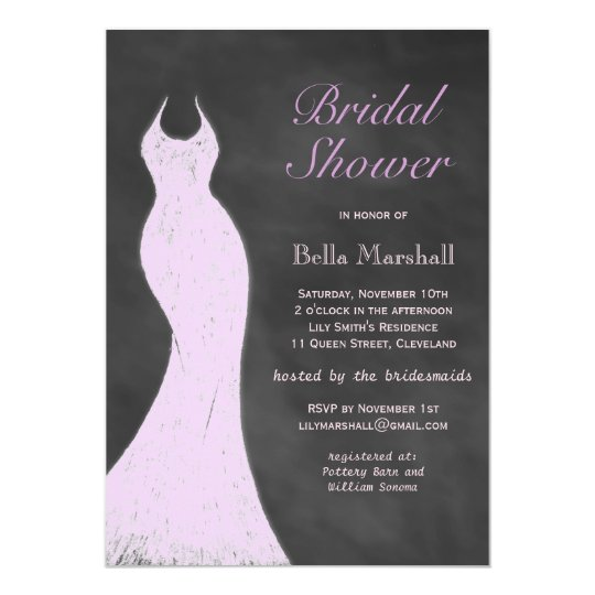 A Vintage Purple Bridal Shower Invitation