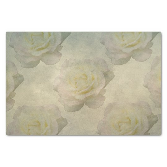A Vintage Rose Romance Tissue Paper