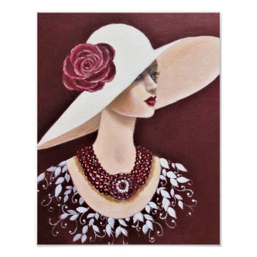 A Vintage Society Lady Poster
