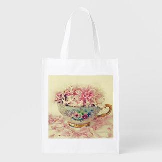 A Vintage Teacup of Flowers