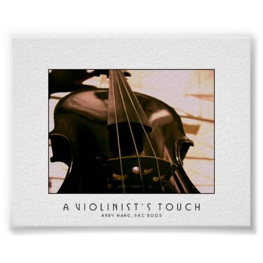 A Violinist's Touch Poster