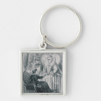 A Vision, 1868 Silver-Colored Square Key Ring