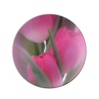 A Vision Of Pink Tulips Plate