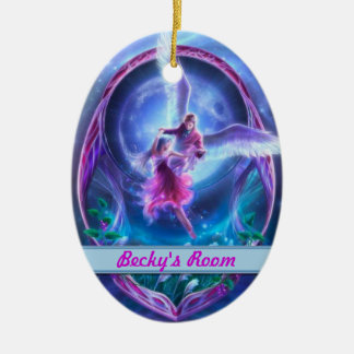 A visit from an angel? Personalized Door Hangers Christmas Ornament