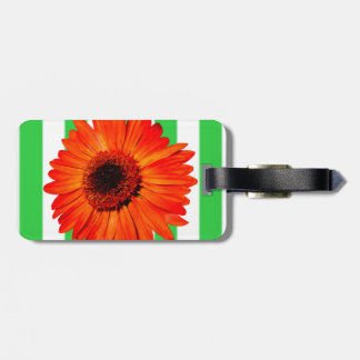 A Vivid Orange Gerbera Daisy Luggage Tag