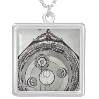 A Volvelle Silver Plated Necklace