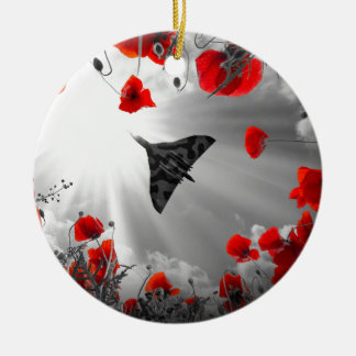 A Vulcan Poppy red Christmas Ornament