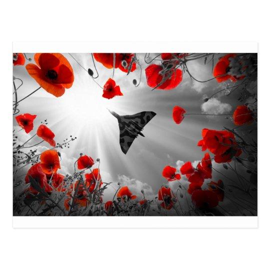 A Vulcan Poppy red Postcard