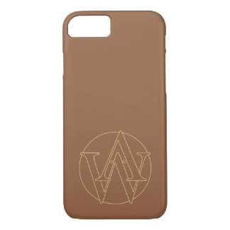 """A&W"" your monogram on ""iced coffee"" color iPhone 7 Case"