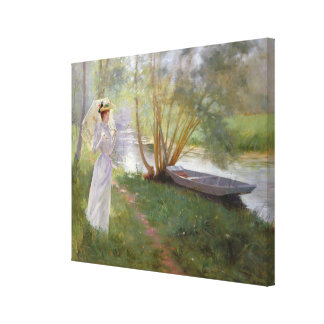 A walk by the river, 1890 canvas print