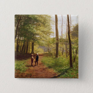 A Walk in the Forest 15 Cm Square Badge
