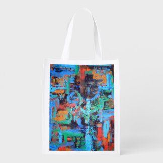 A Walk In The Forest - Abstract Art Handpainted Reusable Grocery Bag