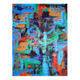 A Walk In The Forest - Abstract Art Postcard