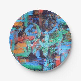 A Walk In The Forest-Abstract Brushstrokes Paper Plate