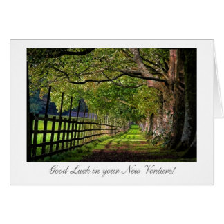 A Walk In The Park - Good Luck in your New Venture Greeting Card