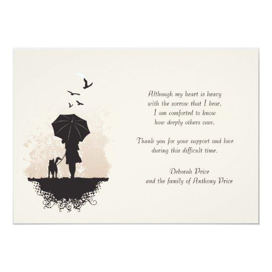 A Walk in the Rain Bereavement Thank You