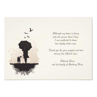 A Walk in the Rain Bereavement Thank You Note Card 13 Cm X 18 Cm Invitation Card