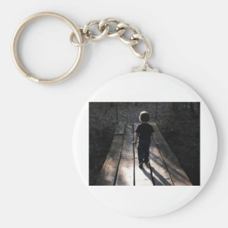 A walk in the woods basic round button key ring