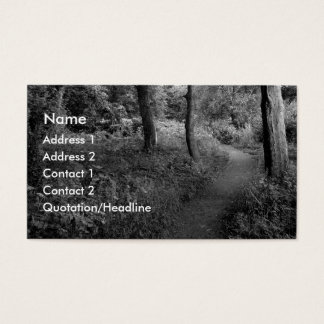A Walk in the Woods Business Card