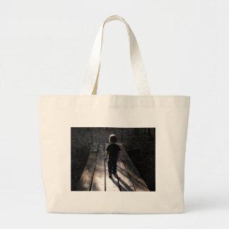 A walk in the woods jumbo tote bag