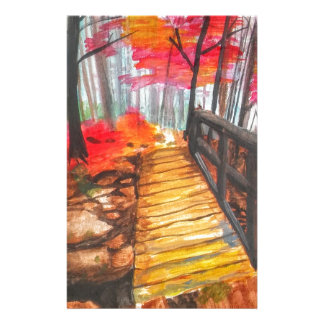A Walk in the Woods Personalized Stationery