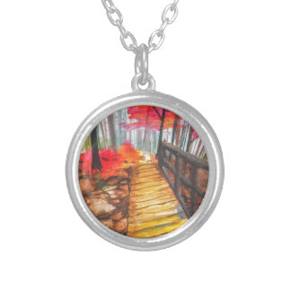 A Walk in the Woods Round Pendant Necklace