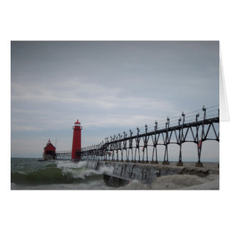 A walk on the pier. greeting card